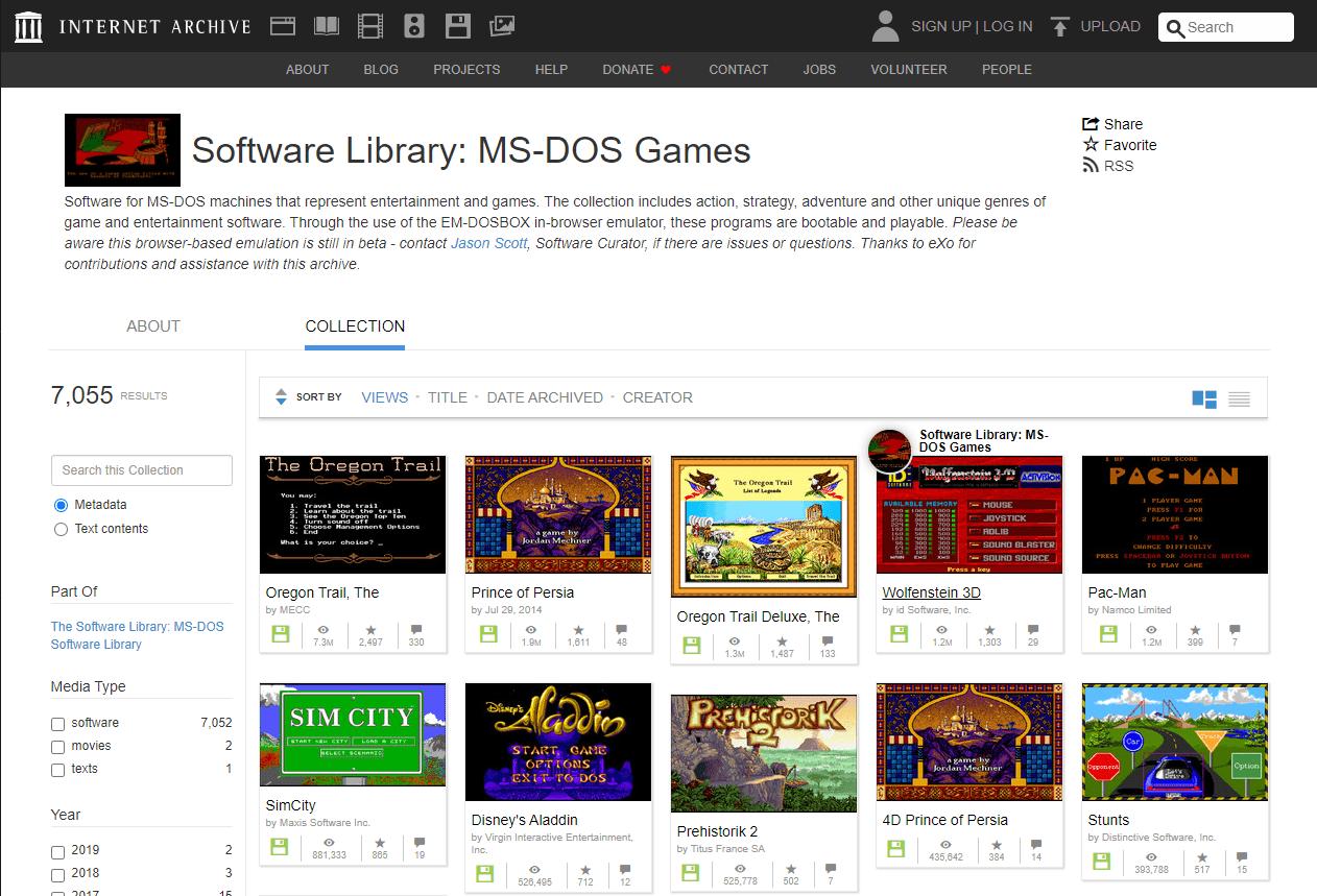 Aquí se explica cómo jugar juegos clásicos de MS-DOS en su navegador