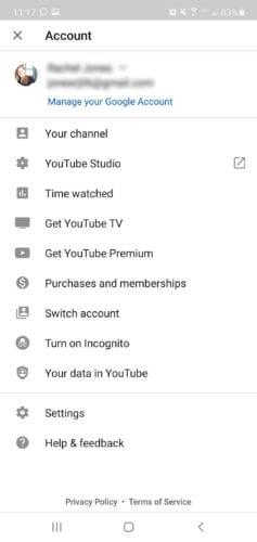 Cuenta de youtube