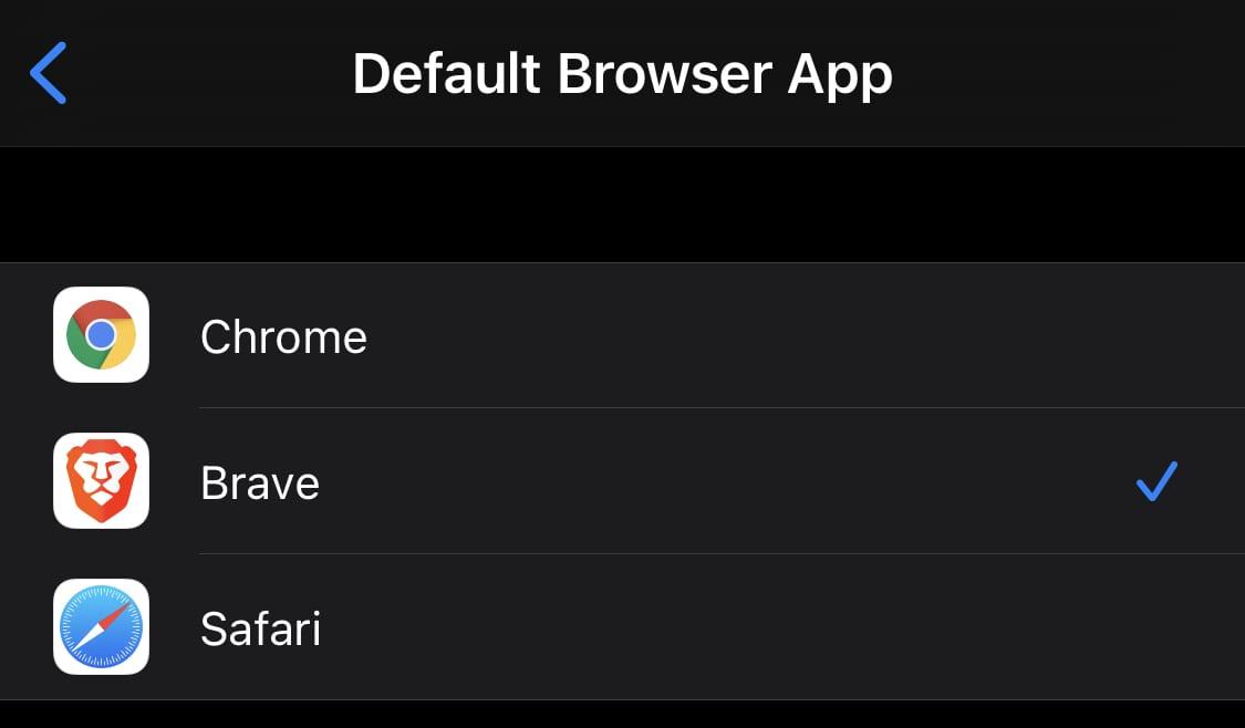 Cómo cambiar el navegador predeterminado en iOS