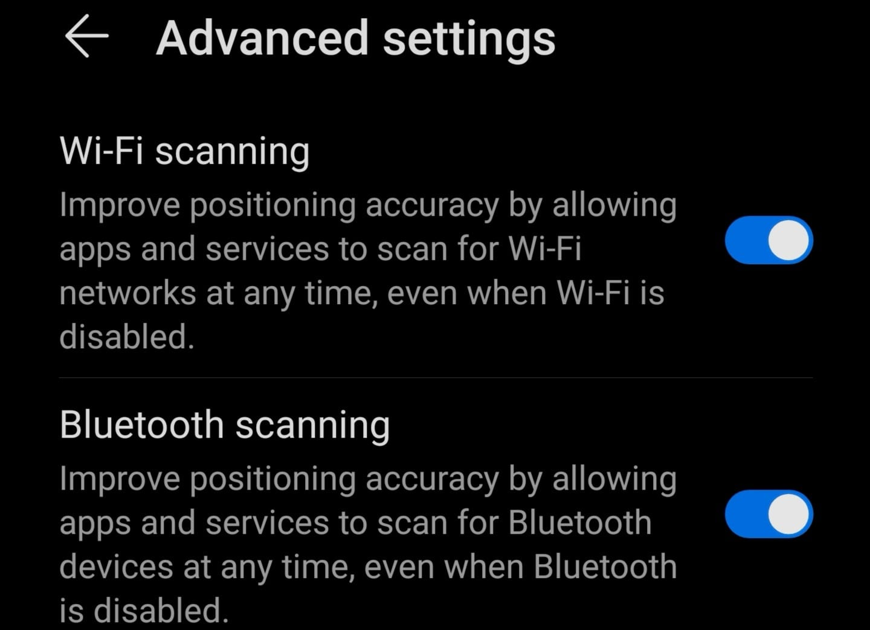 Configuración avanzada de ubicación Android