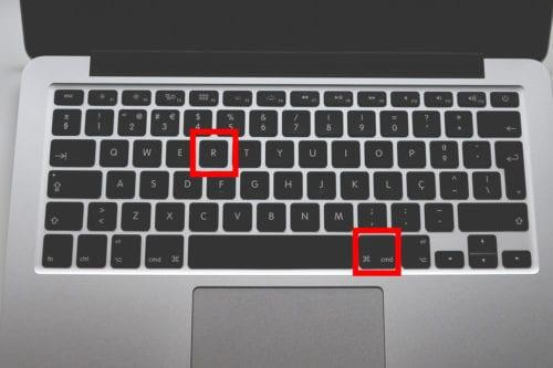 Comando de teclado de Mac resaltado