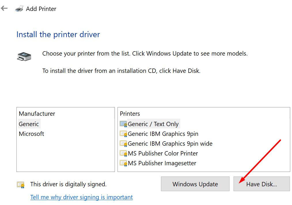 Agregar impresora tiene disco duro