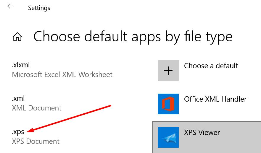Windows 10 selecciona aplicaciones predeterminadas por tipo de archivo