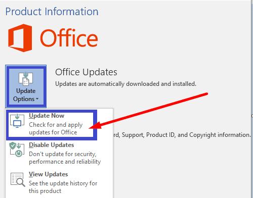 Actualizar Microsoft Office