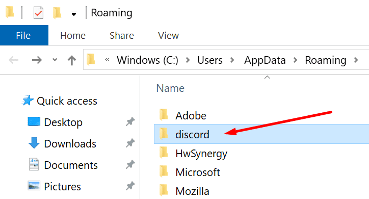 Eliminar Appdata Discord