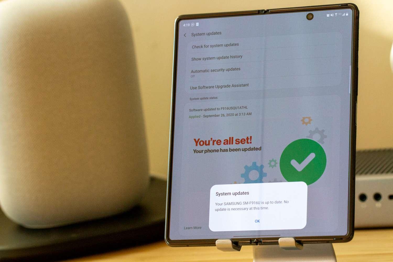 Galaxy Z Fold Actualización del 2 de octubre de 2020: ¿Qué hay de nuevo?