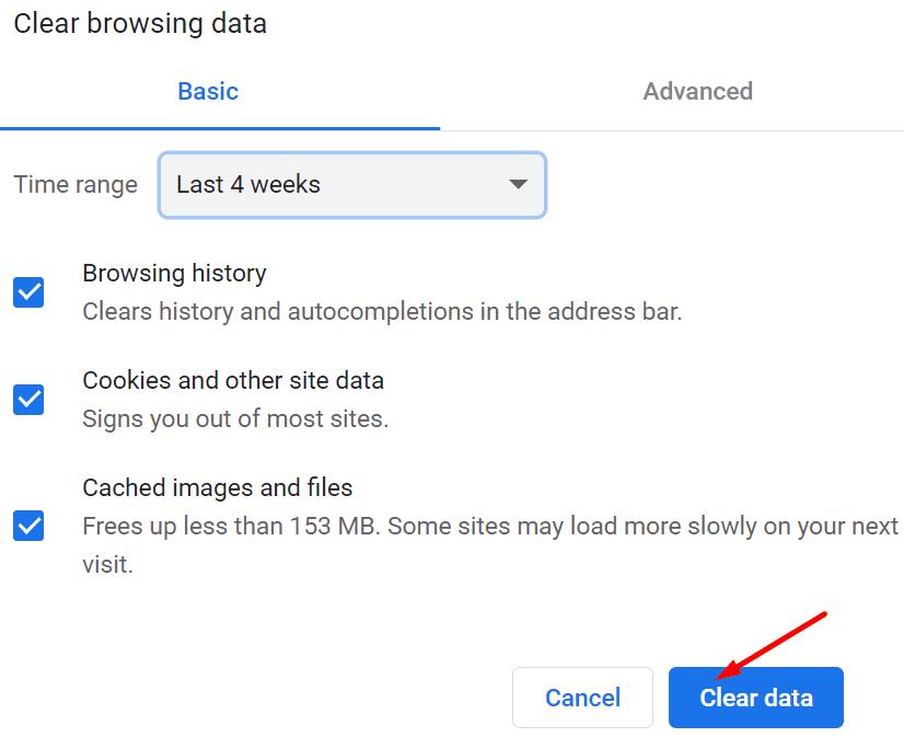Borrar cookies de caché del navegador Chrome