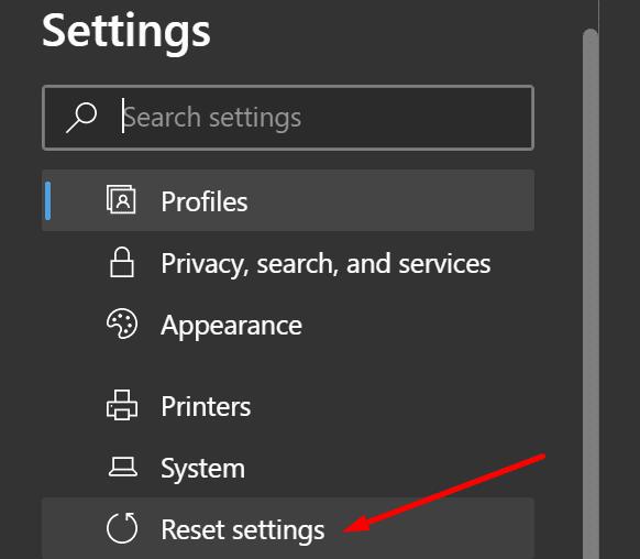 Restablecer la configuración de Microsoft Edge
