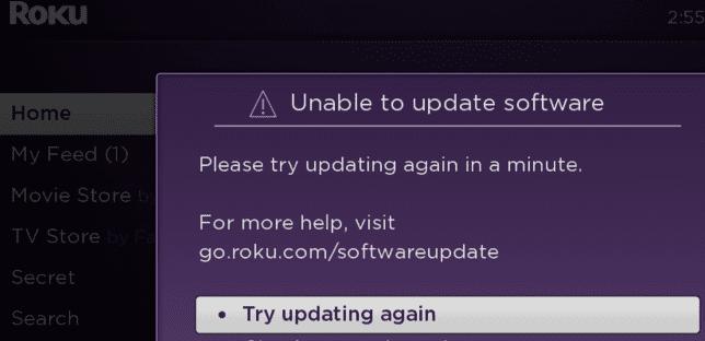 Solución de problemas Roku no actualiza el software