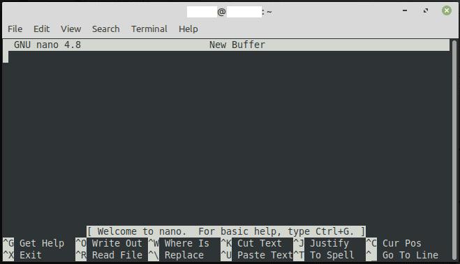 Usando el editor de texto nano en Linux