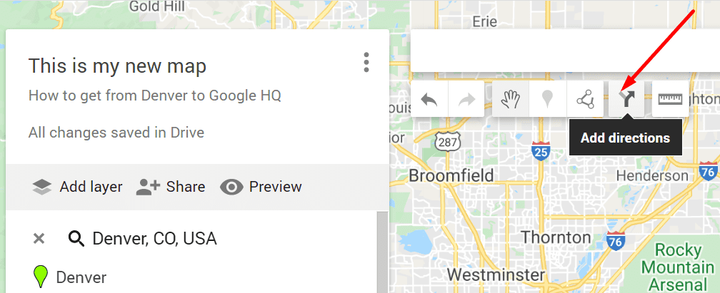 Google agrega direcciones a mis mapas