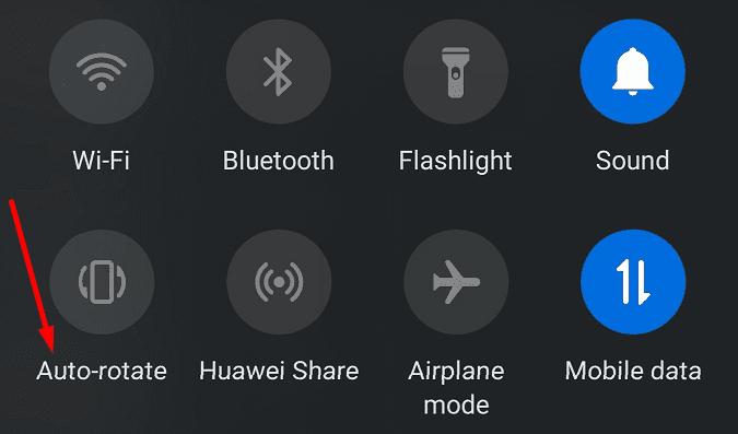 Habilita la rotación automática de Android