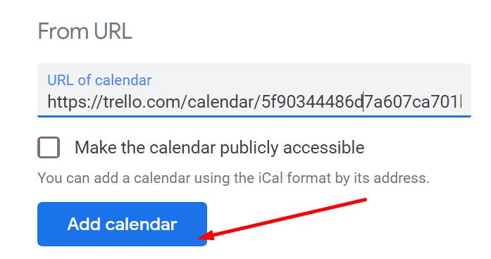 Vincula el calendario de Trello al calendario de Google