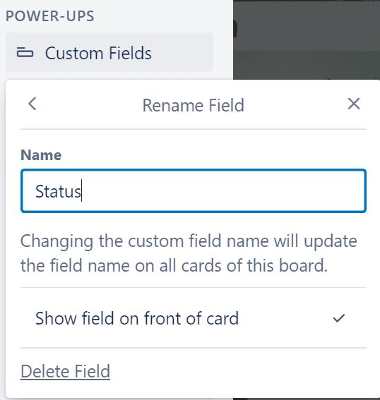 Editar o eliminar el campo personalizado trello
