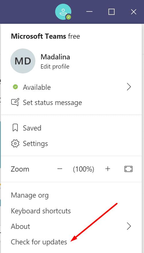 Microsoft Teams busca actualizaciones