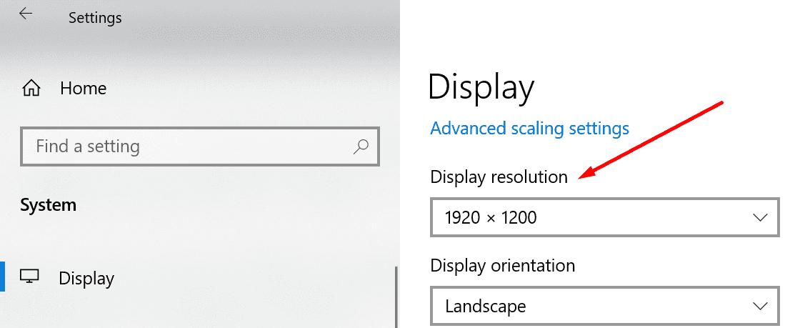 Ventana de cambio de resolución de pantalla 10