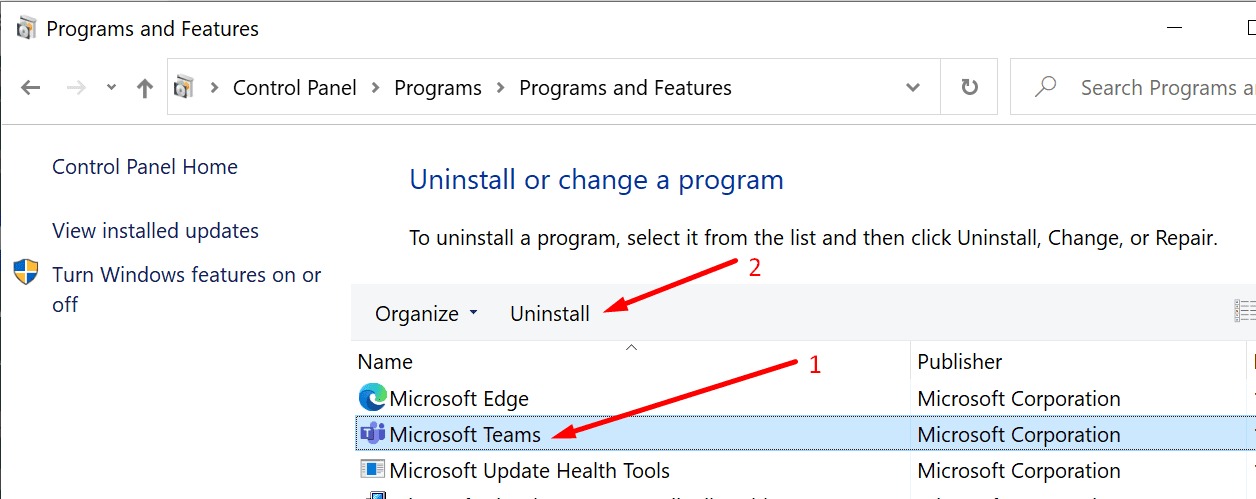 Desinstalar Microsoft Teams