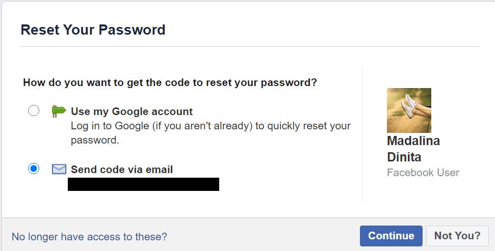 Restablecer la contraseña de Facebook Recuperar cuenta