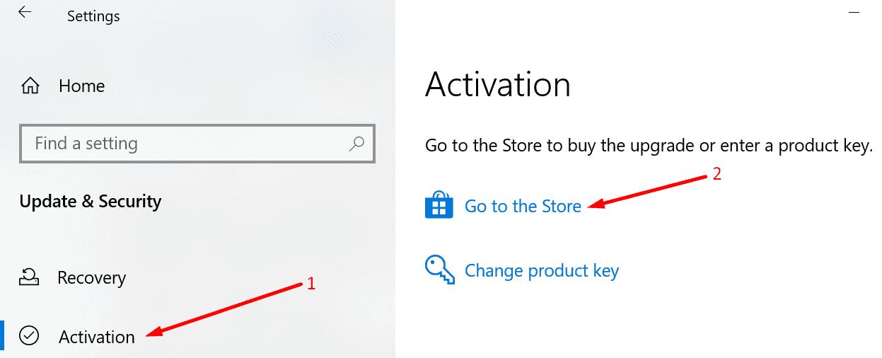 Compra de la clave de producto de Windows 10