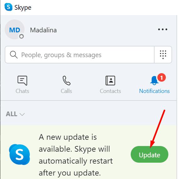 Actualizar Skype
