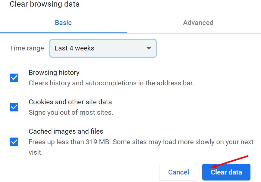 Borrar datos de navegación Chrome