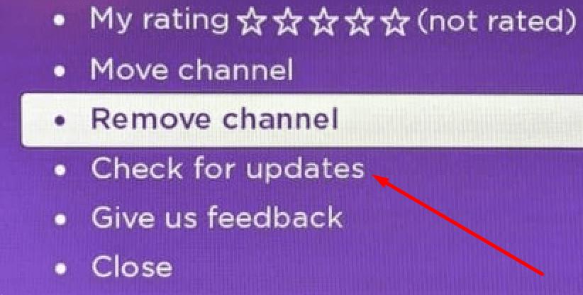 Roku busca actualizaciones