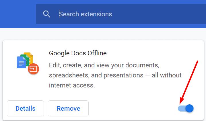 Deshabilitar las extensiones del navegador Chrome
