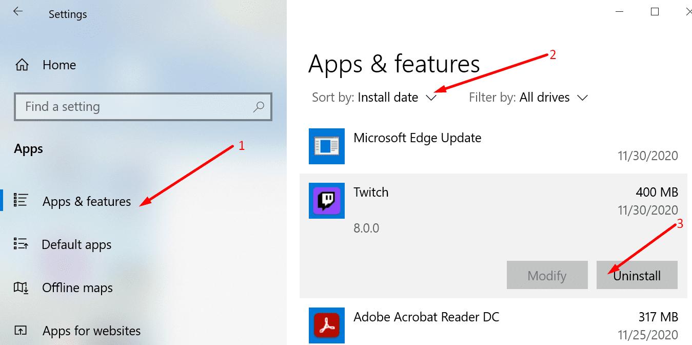 Eliminar programas de Windows 10