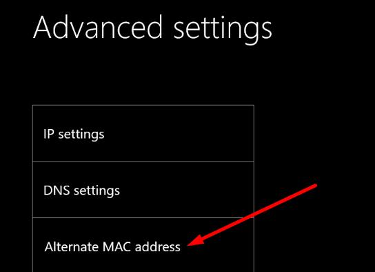 Dirección Mac alternativa de Xbox