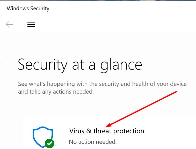 Protección antivirus Seguridad de Windows