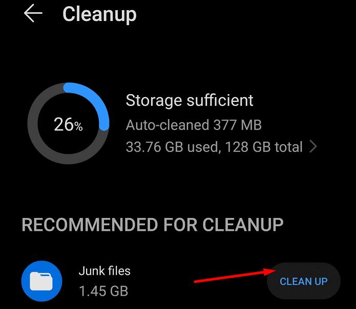 limpiar archivos basura teléfono android