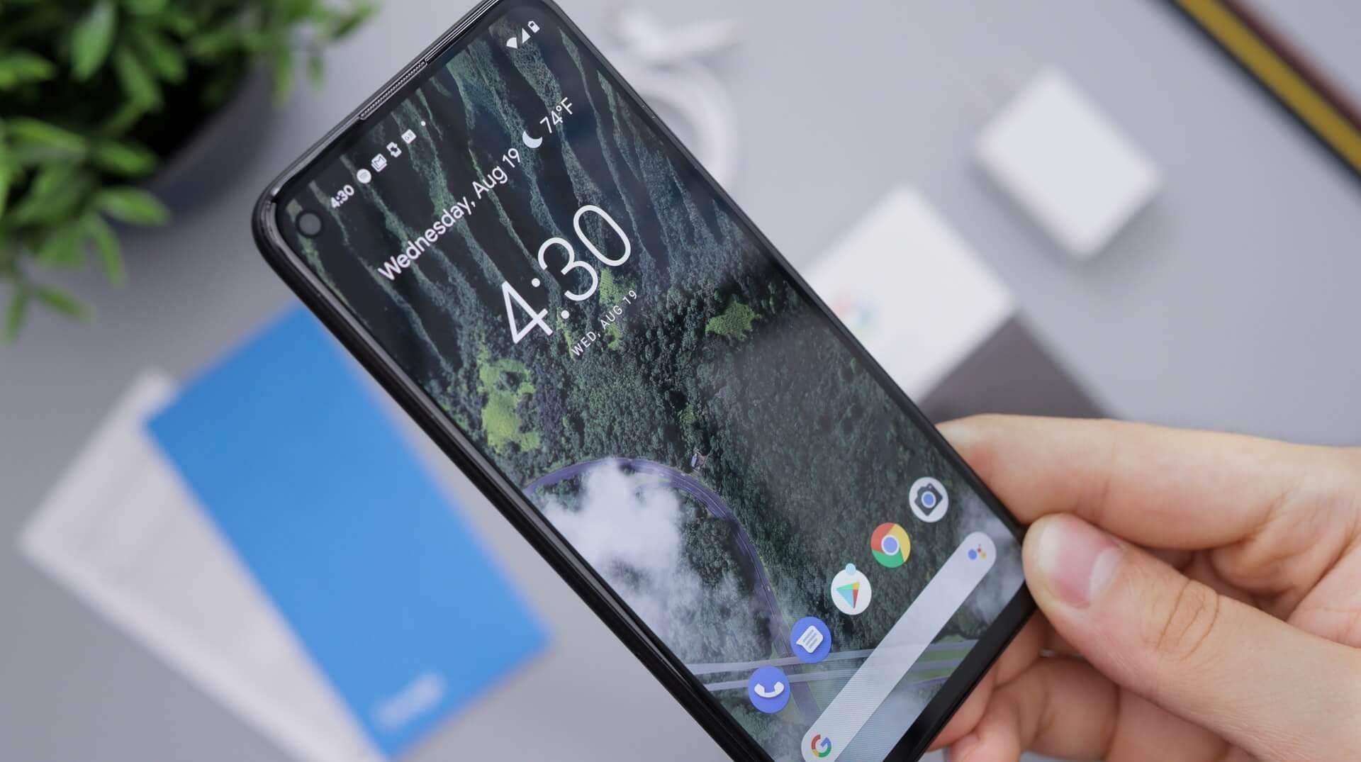 ¿El Pixel 5 tiene un borde activo?