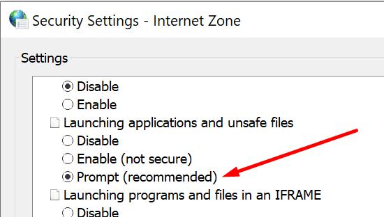 Símbolo del sistema de Windows 10 al iniciar aplicaciones y archivos no seguros