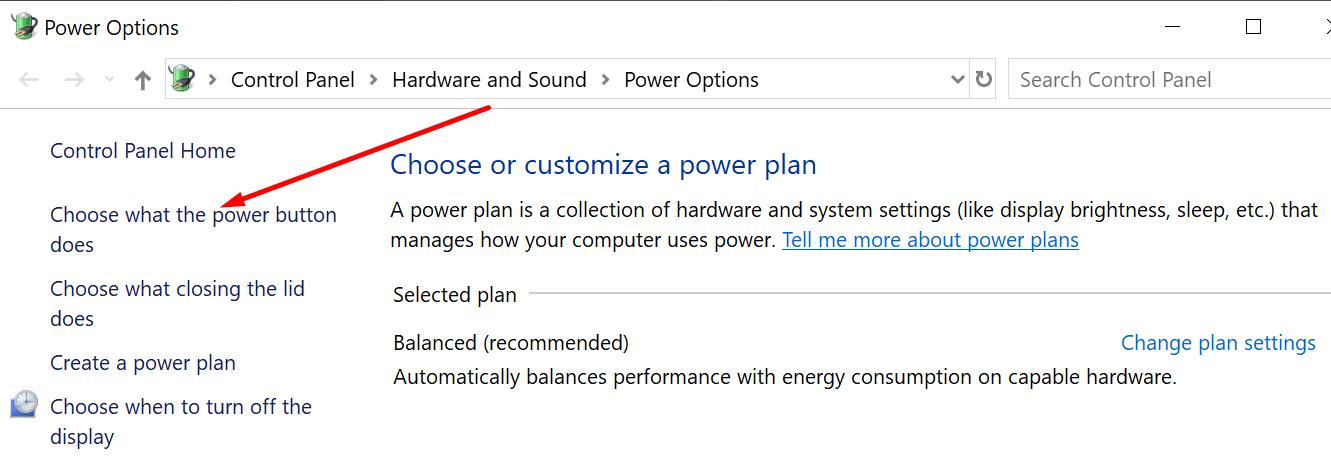 Elige lo que hace el botón de encendido
