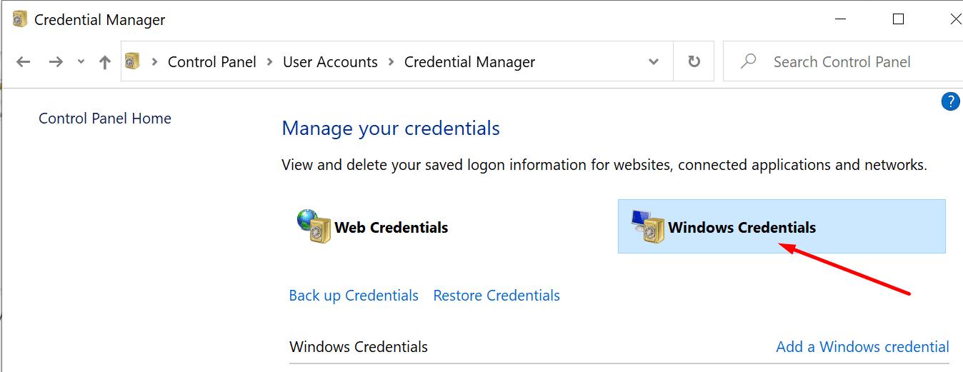 PC con credenciales de Windows