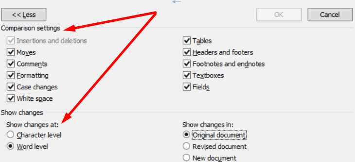 Configuración para documentos de combinación de Word