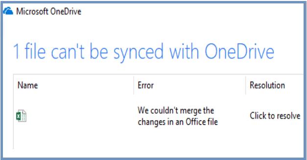 OneDrive: los cambios en el archivo de Office no se pudieron combinar