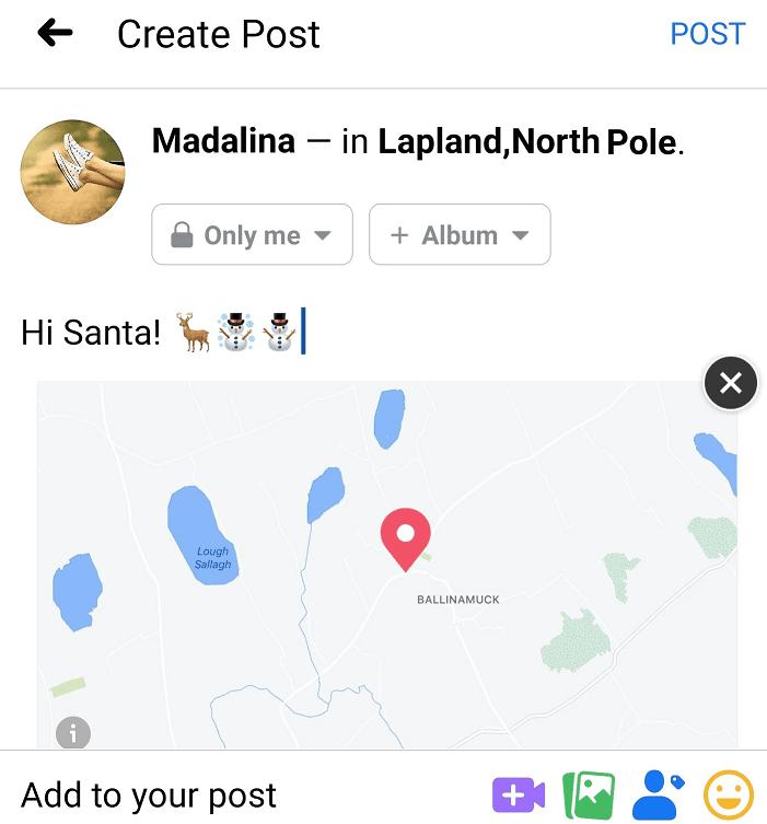 Agregar ubicación falsa Facebook Mobile