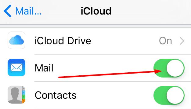 Activar Desactivar Mail iPhone