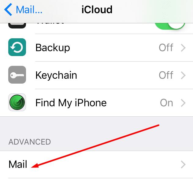 Configuración avanzada para el correo de iCloud