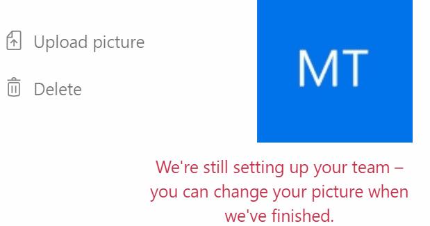 Equipos de Microsoft: todavía estamos configurando su equipo