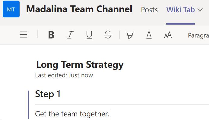 Microsoft Teams: alguien más está editando esta sección