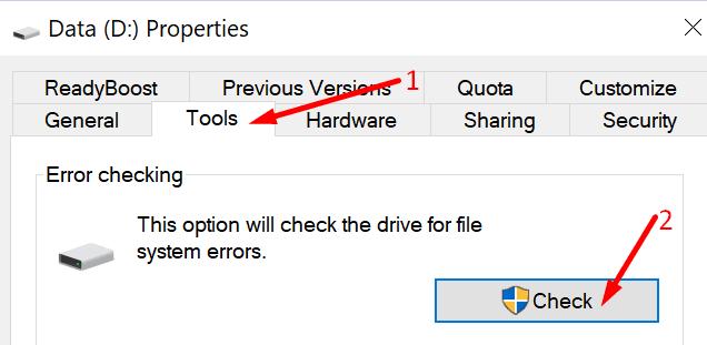 Ejecute la PC para verificar el disco duro