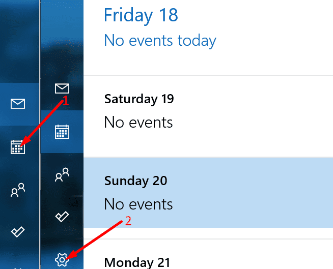 Configuración del calendario de Outlook