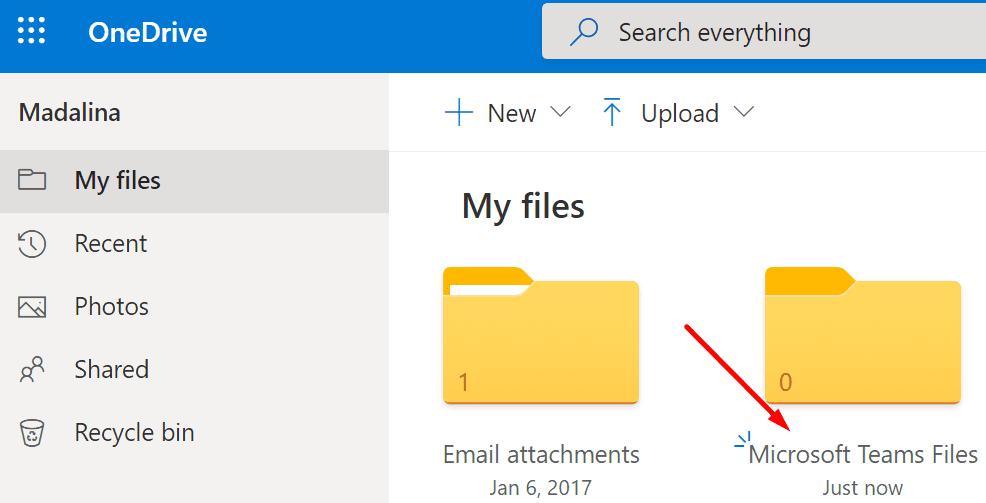 archivos onedrive de Microsoft Teams