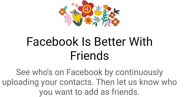 Evitar que Facebook acceda a los contactos
