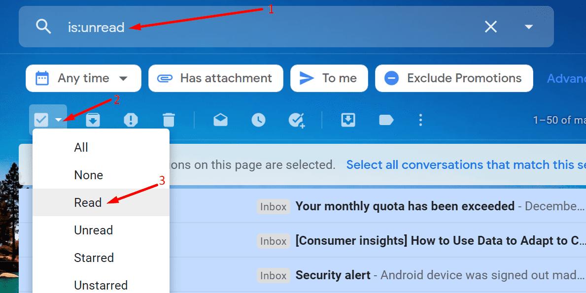 Comprobar el correo electrónico no leído en Gmail
