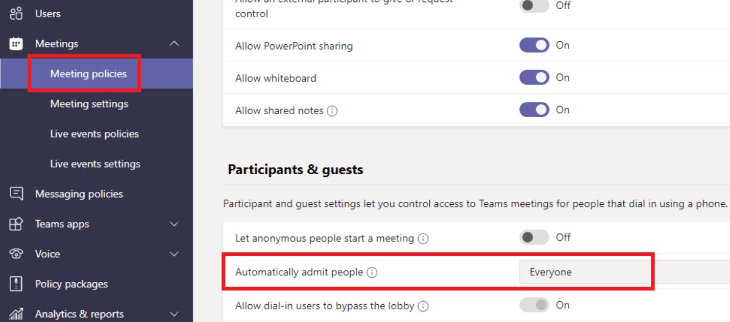 Microsoft Teams permite automáticamente a las personas