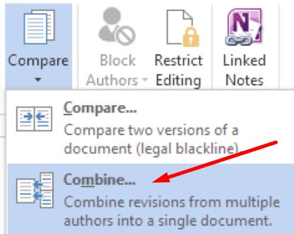 Microsoft Word combinar documentos