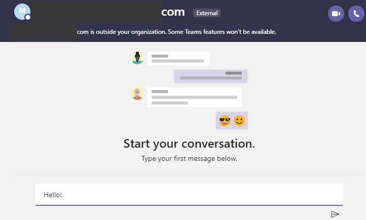 Póngase en contacto con los usuarios de Skype de Microsoft Teams